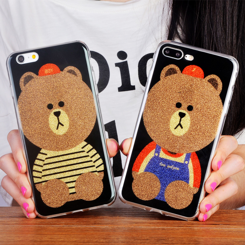 For Apple iPhone 6 6S/6 6s Plus /iphone7 plus <font><b>case</b></font> Fashional 6 Series <font><b>Panda</b></font> For <font><b>Phone</b></font> <font><b>Case</b></font>