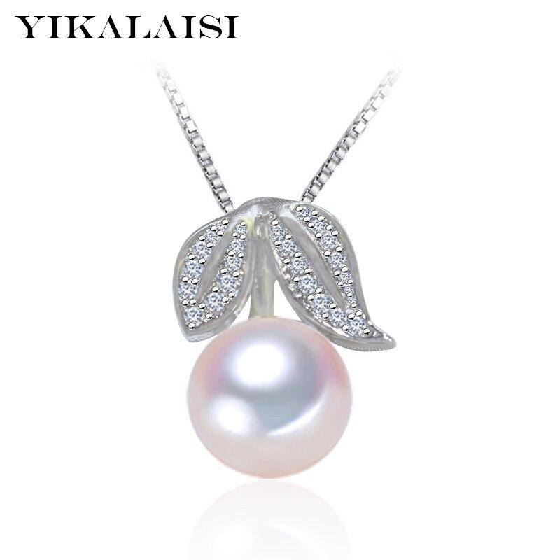 """""""YIKALAISI 2017"""" prekės ženklo 100% natūralus gėlavandenių perlų vėrinys, pakabukas, karoliai, 925 sidabro papuošalai, moterims"""