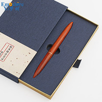 High Quality Brass Solid Wood Signature Pen Wood Ballpoint Pen Black High Grade Business Gifts Personalized