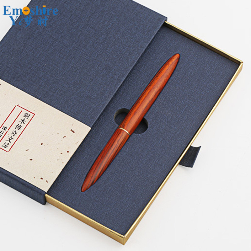High Quality Brass Solid Wood Signature Pen Wood Ballpoint Pen Black High-grade Business Gifts Personalized Custom Gel Pen P443 yoursfs   french high grade pen shape