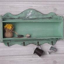 Деревянный подвесной шкаф для хранения ретро отделка мебель для гостиной 50*10*30 см