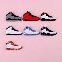 Keychain New Exotic Mini Jordan 10 Retro Shoe Key Chain Men and Women Kids Gift Keyring Basketball Sneaker Holder Porte Clef