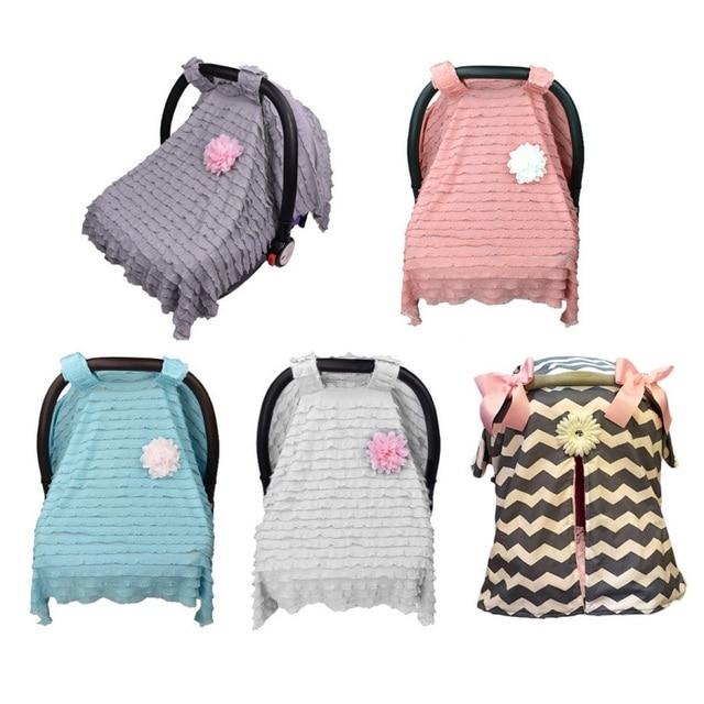 Baby Car Seat Blanket Cover Fashion Flower Newborn Girls Soft Safety Canopy Nursing