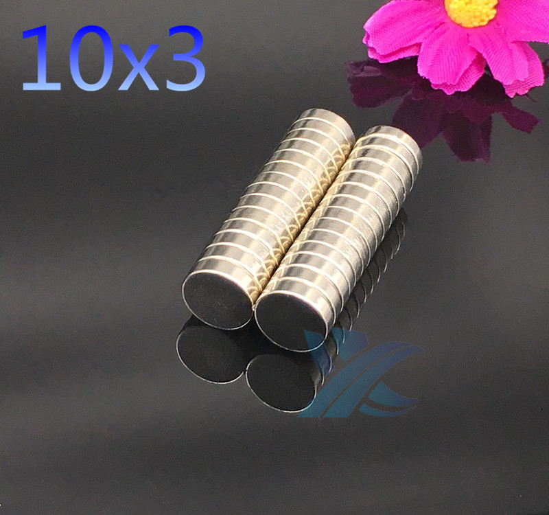 20PCS 10mm x 3mm  Strong Round Cylinder Magnets 10X3 Rare Earth Neodymium NEW 10*3 Art Craft Connection free shipping