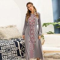 Khale Yose 2019 Autumn Maxi Dress Long Sleeve Floral Print Bohemian Dresses For Women Big Plus Size Boho Chic Ethnic Gypsy Dress