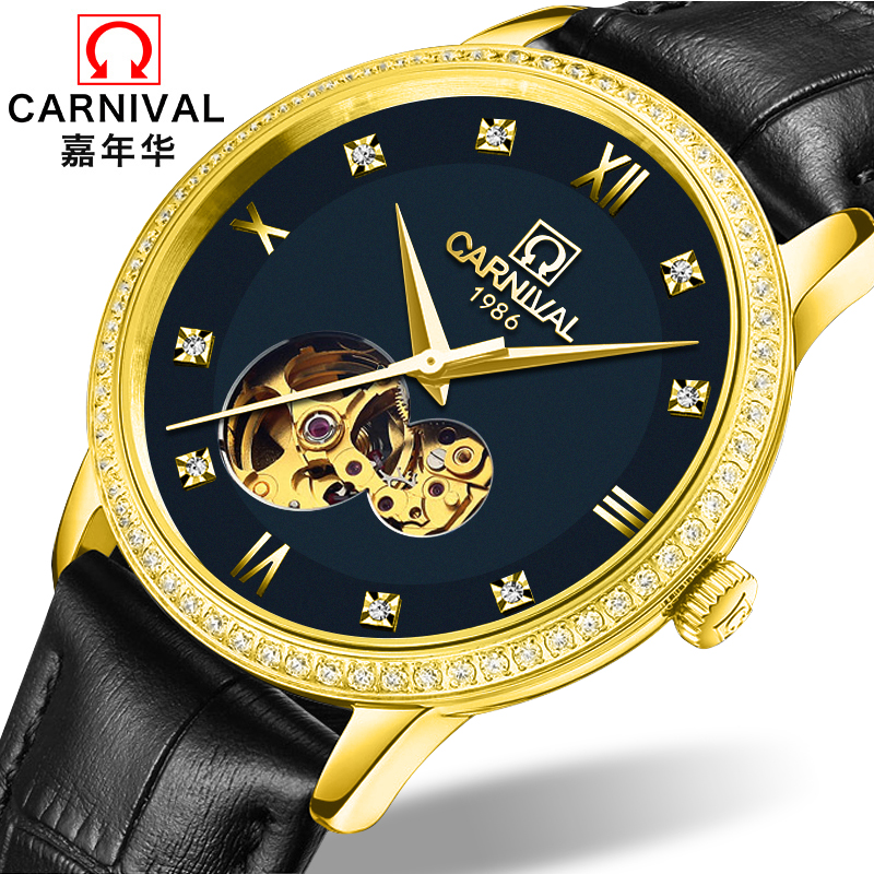 Carnival Watch Men Japan MIYOTA 8N24 Automatic Mechanical Brand Luxury Men Watches Sapphire reloj hombre Diamond Clock C5676-6Carnival Watch Men Japan MIYOTA 8N24 Automatic Mechanical Brand Luxury Men Watches Sapphire reloj hombre Diamond Clock C5676-6