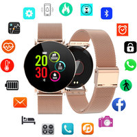Women smart watch android IOS IP68 Waterproof smart watch Women Luxury Stainless Steel smartwatch Ladies relogio inteligente