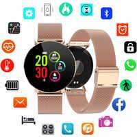 Reloj inteligente para mujer android IOS IP68 reloj inteligente impermeable reloj inteligente de acero inoxidable de lujo para mujer reloj inteligente para mujer