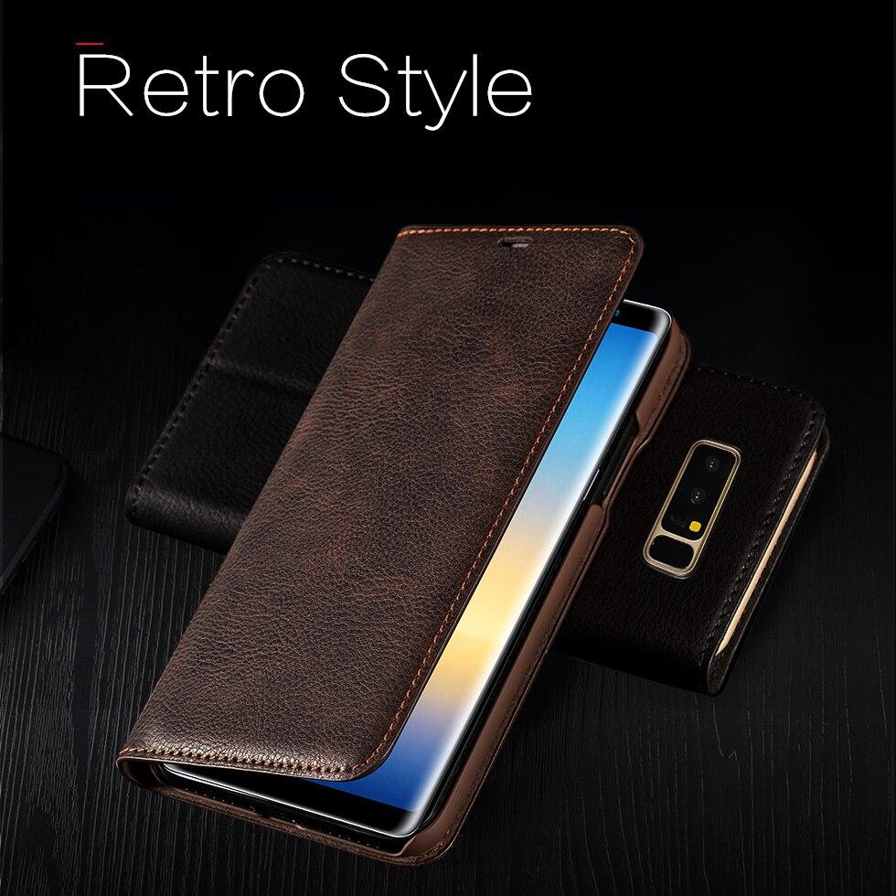 Musubo Ultra Slim-Fall für Samsung Note 8 coque Echtem Leder Luxus Fällen Abdeckung für Galaxy S8 Plus S8 + Flip capa karte