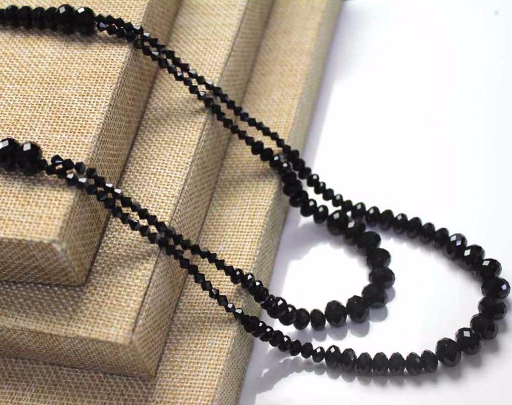 Strebelle 2017 Neue Ankunft Klassische Doppelschichten Kristall Glas Lange Halskette Frauen Modeschmuck Geschenk SchöNe Lustre