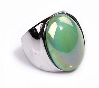 Fashion Retro Luxury Silver Large Particles Neon Moisturizing Gem Ring R695