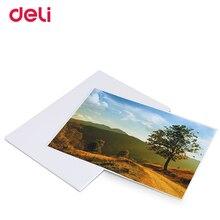 Deli высокое качество 4R/A4 светящаяся фотобумага для большинства струйных принтеров глянцевая фотобумага для домашнего офиса поставка