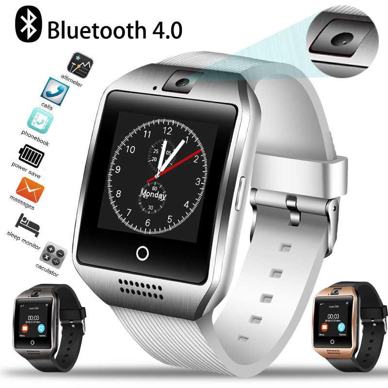 Ini 2019 Baru Pria Bluetooth Smart Watch Wanita Sport Pedometer Clock LED Layar Besar Warna Layar Sentuh Penopang TF SIM kartu + Kotak