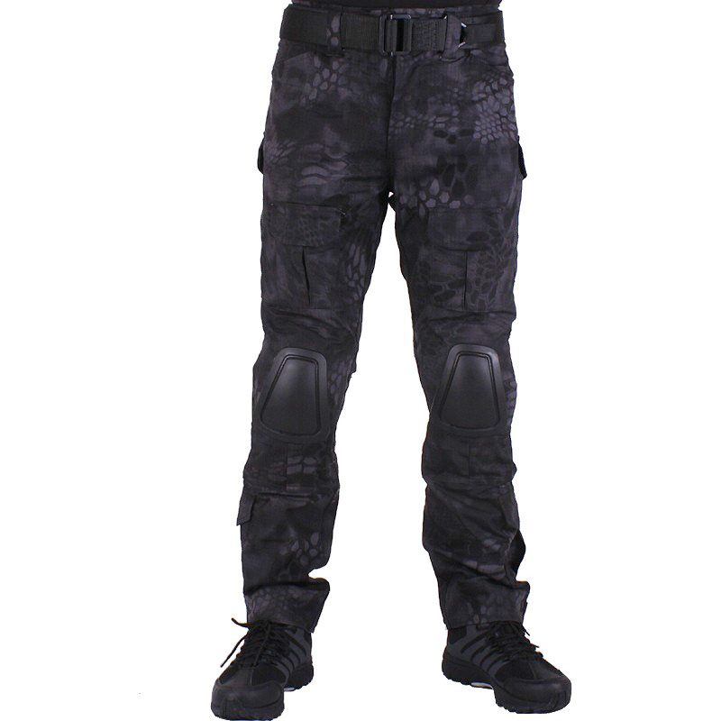 Camouflage military Combat pants men trousers  tactical army pants with Removable knee pads TYP ganyanr brand solid tactical military army cargo long pants combat trousers military tactical pants full length caping outdoor