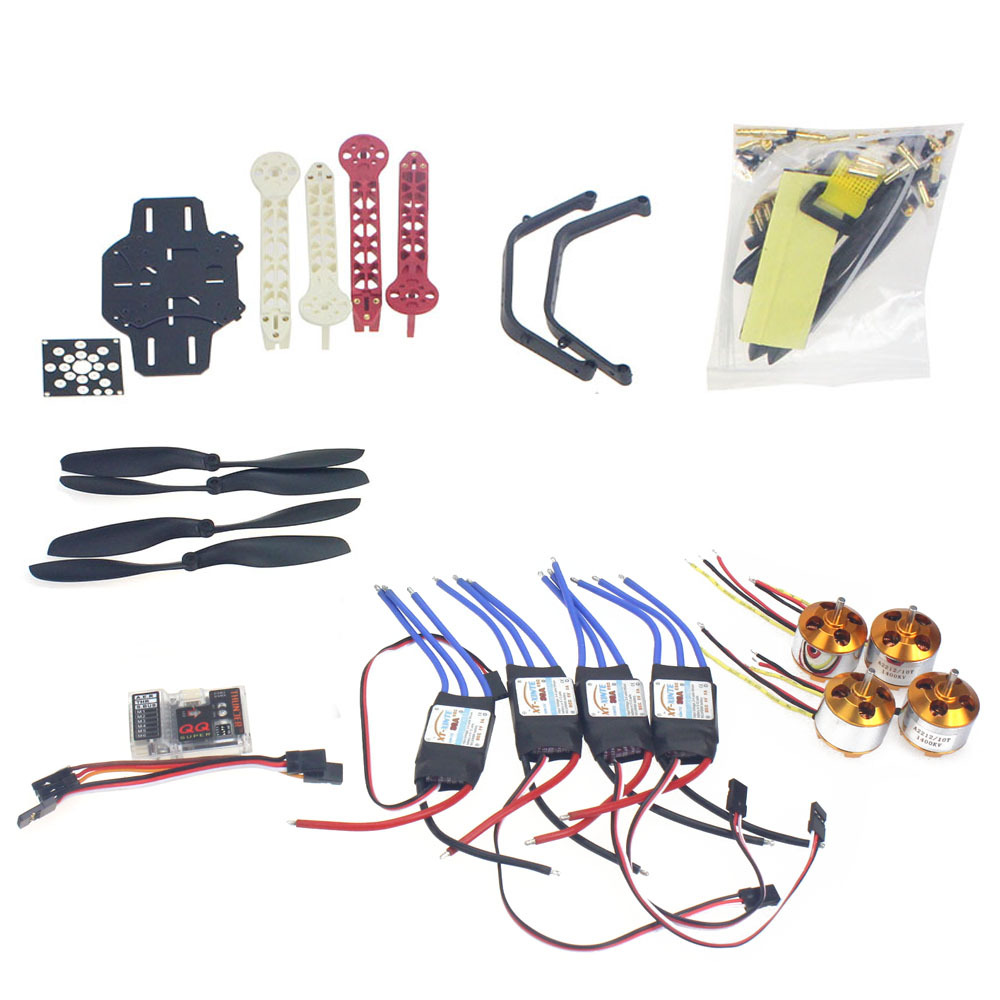 RC Drone Quadrocopter Aircraft Kit F330 MultiCopter Frame QQ Super Flight Control No Transmitter No Battery F02471-I rc drone quadcopter 4 axis aircraft kit f330 multicopter frame 6m gps apm2 8 flight control no transmitter no battery f02471 e