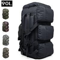 90L Large Capacity Outdoor Hiking Backpack Military Tactical Pack Camouflage Luggage Bag Camping Tent Quilt Container