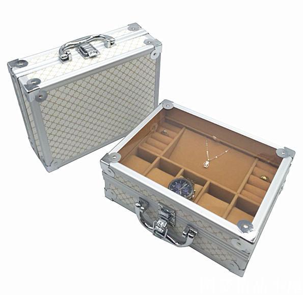 Luxus Aluminium Uhr & Schmuck Koffer Lagerung mit Griff Uhren Box - Uhrenzubehör - Foto 3