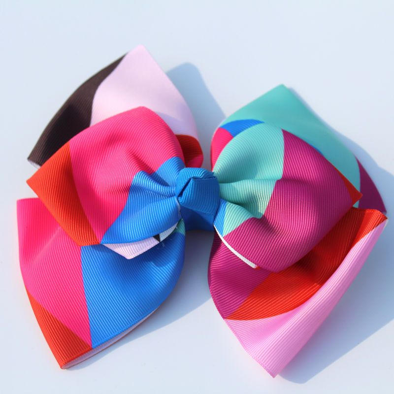 12pcs jo jo 7 39 39 grosgrain ribbon Double layer hair bows hair clips rainbows bow hairpin girls hairbow For Teens gift in Hair Accessories from Mother amp Kids