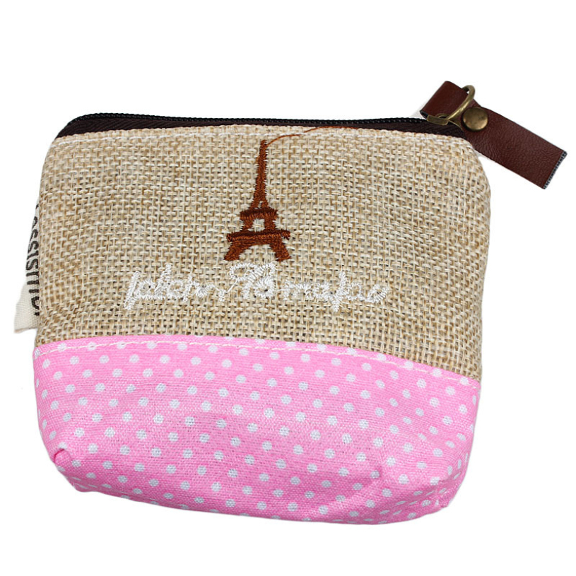New brand 2017 Fashion Small Canvas Printed Purse Girls Coin Purses Bag For women handbags bolsa feminina Dropshipping