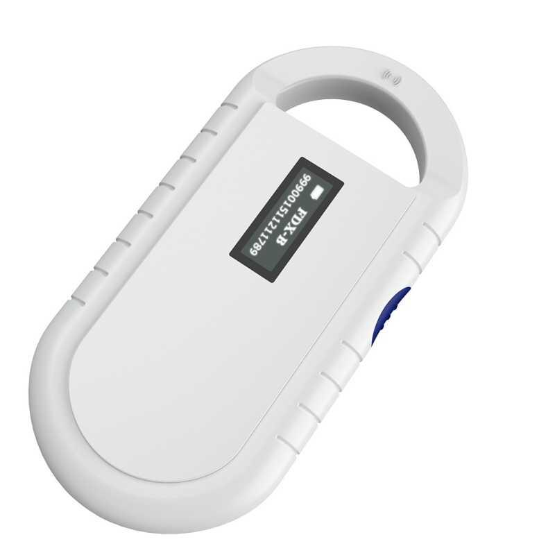 Taşınabilir ISO11784/5 FDX-B Hayvan Pet KIMLIK Okuyucu Çip Rransponder USB RFID El Mikroçip Tarayıcı Köpek Kediler için At evcil hayvan