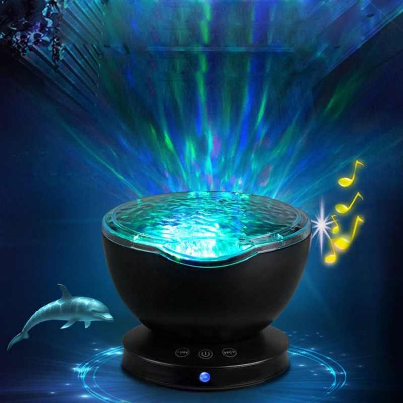Светодиодный ночник лампа-проектор Звездное небо проекционный светильник лампа волны океана проектор подарок сверкающие принадлежности для вечеринки украшение для детской комнаты