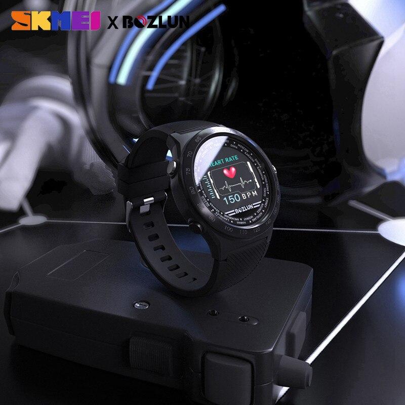 Pantalla LED SKMEI para hombre reloj Digital calorías Monitor de ritmo cardíaco pasos relojes deportivos Montre Homme reloj Masculino W31 - 6