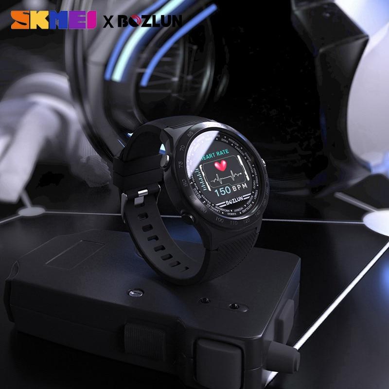 SKMEI Men Digital Smartwatch Bluetooth Sport Watches Heart Rate Monitor Fitness Sleep Tracker Waterproof Male Smart Wristwatch - 5