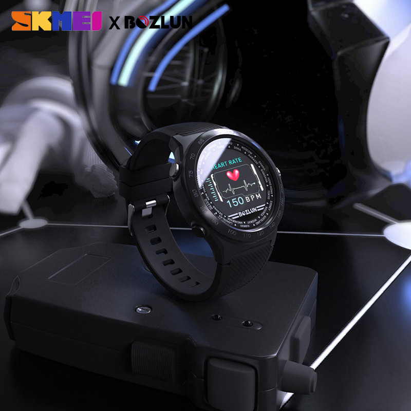 SKMEI hommes Smartwatch numérique Bluetooth Sport montres moniteur de fréquence cardiaque Fitness sommeil Tracker étanche mâle montre bracelet intelligente - 5