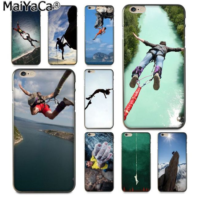 best service 1458e 4bdc8 US $1.41 29% OFF|MaiYaCa Extreme sports bungee jumping and climbing New  Arrival phone case for Apple iPhone 8 7 6 6S Plus X 5 5S SE XS XR XS MAX-in  ...