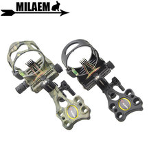 1pc Archery Compound Bow Sight 5pin 019 Optical Fiber Micro Adjustable with Light Outdoor Shooting Accessories