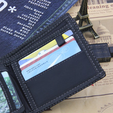Denim Blue Jeans Canvas Wallet