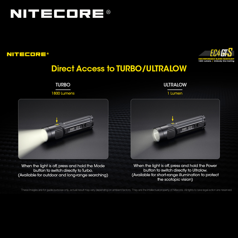 Image 5 - New Arrival Nitecore EC4GTS CREE XHP35 HD LED 1800 Lumens High performance Blazing Searchlight Flashlight-in Flashlights & Torches from Lights & Lighting