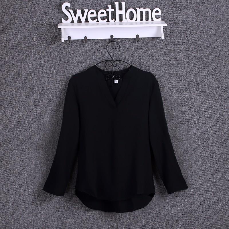 HTB1pgwDKpXXXXXgXFXXq6xXFXXXc - Chiffon Blouse Shirts Women's Long Sleeve V-Neck