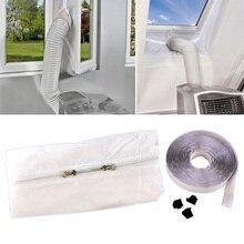 유용한 뜨거운 공기 중지 컨디셔너 콘센트 창 씰링 키트 모바일 에어컨 홈 액세서리 HY99 AU01