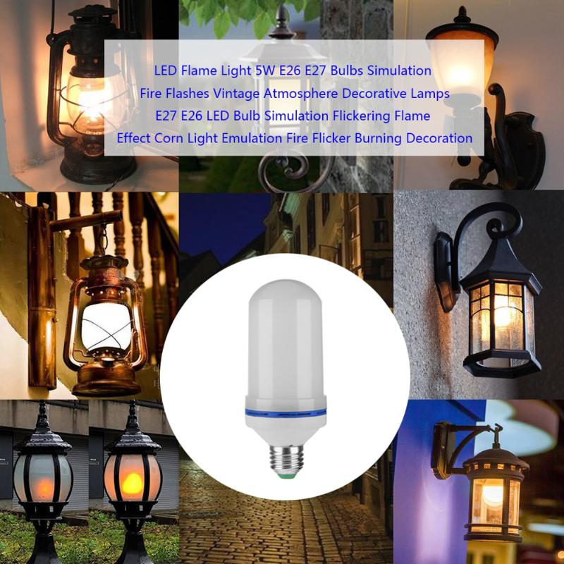 LED Flame Light  E26/E27 Bulbs Lamp 10W 2300K Lighting Fire Flashes Vintage Atmosphere Decorative Effect Flame Light flame trees of thika