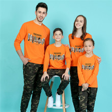 Long Sleeve Mother Kids 2016 Men T Shirt Black Sport Cartoon T-shirt Gym Skate Tshirt Polera  Family Father Son Matching Clothes