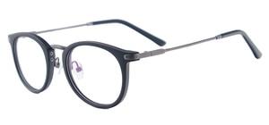 Image 3 - نظارات كلاسيكية خفيفة الوزن للرجال والنساء نظارات مستديرة من البلاستيك المعدني للعدسات الطبية