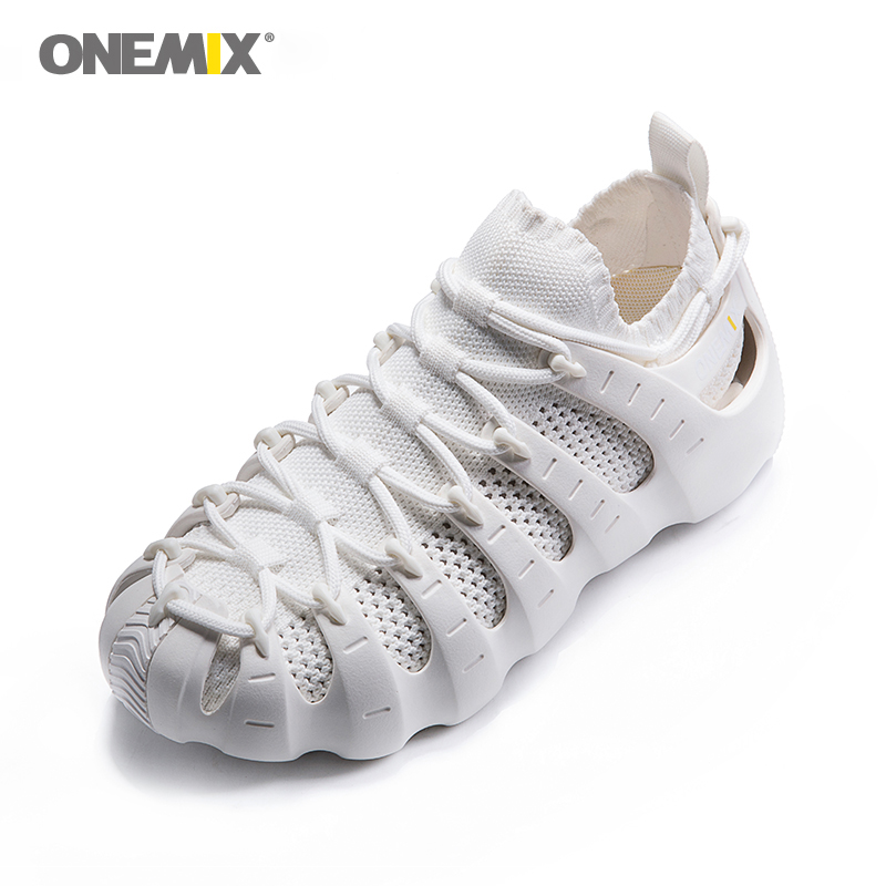 купить ONEMIX Women Men Multi-function Running Shoes Air MeshBreathable Knitting Sneakers Sandals Slippers Jogging Shoes 270 по цене 6054.5 рублей