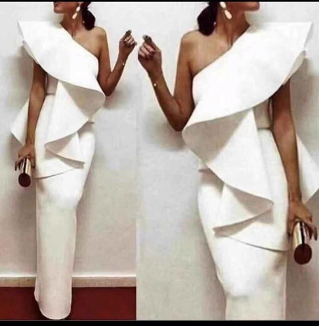 Missord 2019 пикантные одно плечо оборками женский платья для женщин одноцветное цвет элегантное праздничное платье Vestdios FT18895