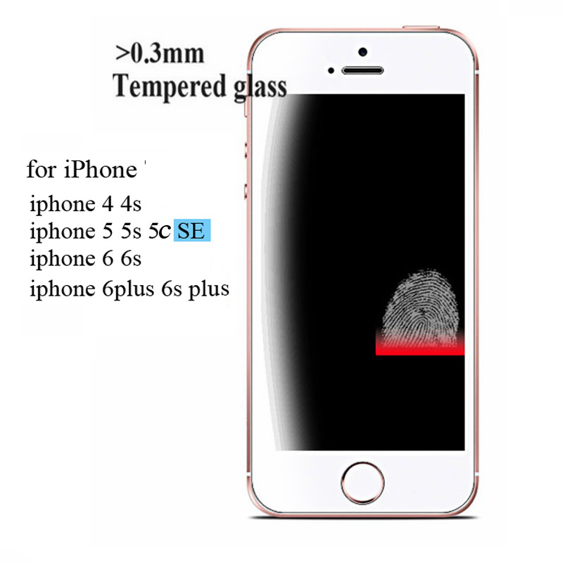 2.5D 0.3mm Premium Tempered Glass Screen Protector for IPhone X 6 6s 5 5s 5se 4s 7 8 Plus Toughened Protective Film for IPhone 6