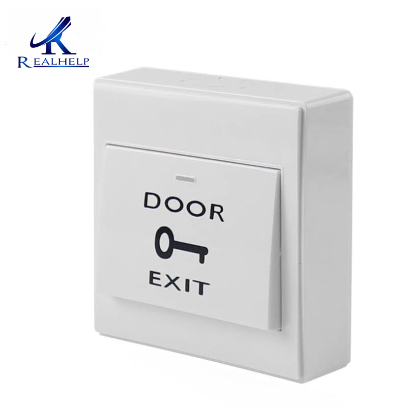 Mounted Exit Button With Bottom Box For Rfid Reader Card Open Door Access Switch Suitable For All Kinds Of Electric Lock Security & Protection Access Control Accessories