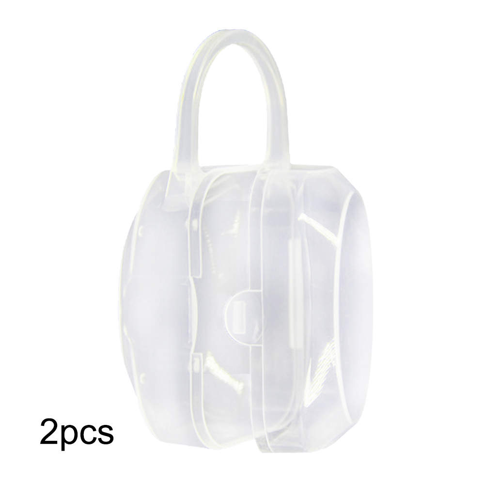 2 Pcs  Baby Pacifier Holder Handbag Design Baby Pacifier Nipple Case Traveling Storage Box For Jewelry Small Gadget