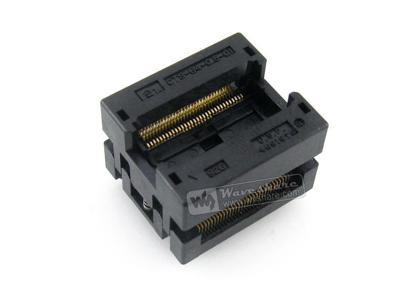 Modules Enplas IC Test Socket Adapter OTS-64-0.5-01 0.5mm Pitch SSOP64 TSSOP64 Package Free Shipping modules qfp144 lqfp144 stm32f10xz stm32l1xxz stm32f2xxz stm32f4xxz yamaichi stm32 ic test socket adapter 0 5mm pitch