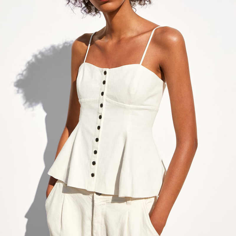 Летний топ Женская одежда 2019 Повседневная со спущенными плечами белый короткий топ