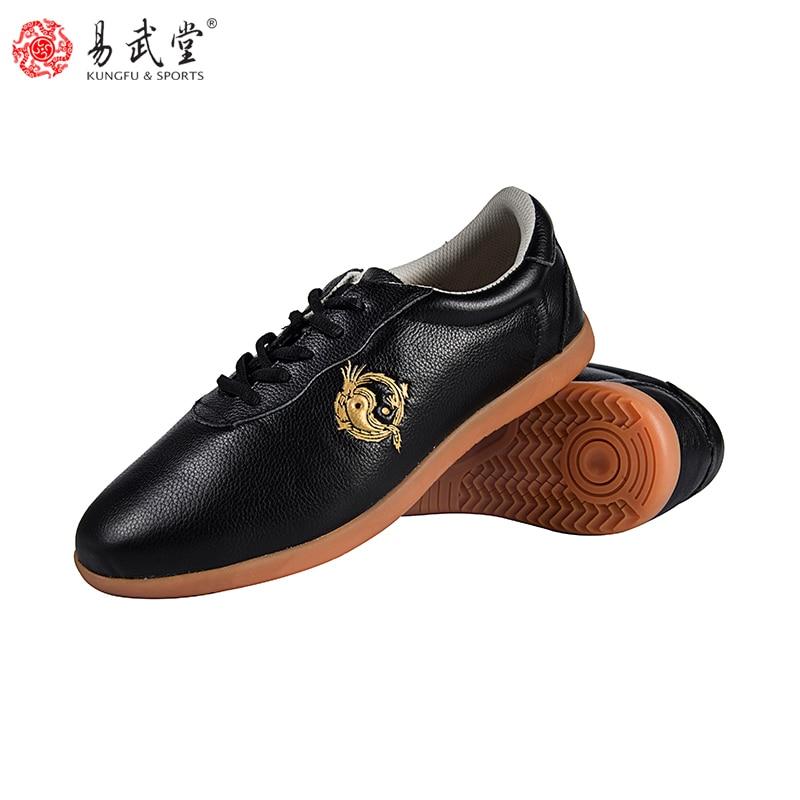Yiwutang Tai Chi Shoes Wushu Martial Arts Chinese Kung Fu Shoes For Men And Women Soft Leather  Ccwushu Shoes