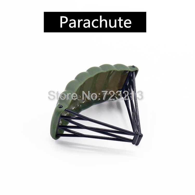 Tek SWAT silah oyunu PUBG askeri parçalar paraşüt MOC aksesuarları M2 makinesi Gatling silah modeli yapı taşları tuğla oyuncak