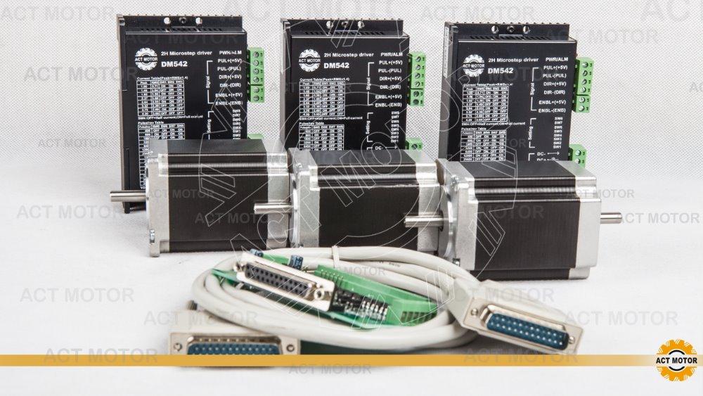 free shipping to EU 3axis 425oz nema 23 stepper motor 4.2A/ 3.0n.m 23HS2442B with driver ,power cnc kit