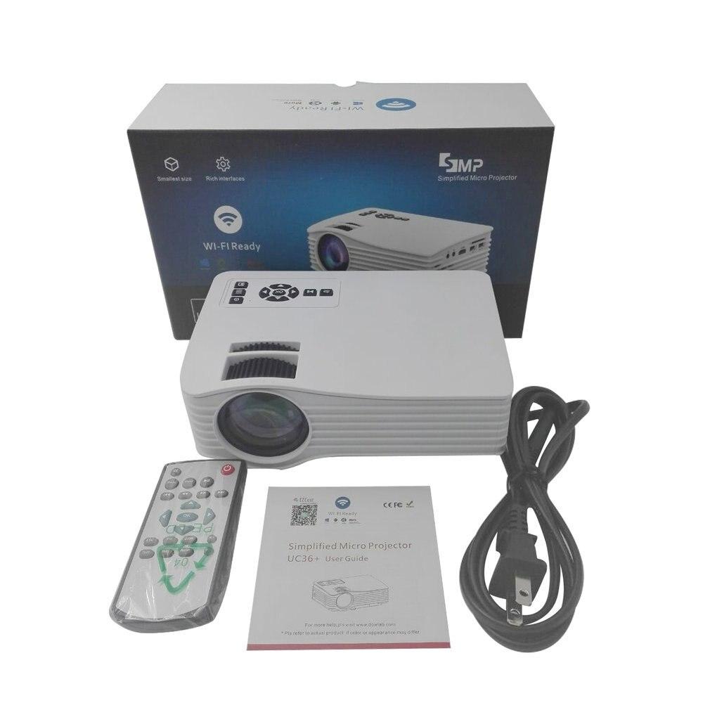 Portable UC36 1080P haute définition Home cinéma 3D cinéma HDMI USB numérique multimédia mini projecteur LED 640*480 US plug