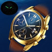 Luminous Men Business Watches Quartz Luxury Chronograph Wristwatch Leather Strap Male Clock Relogio Masculino Drop Shipping men quartz watch chronograph leather strap luminous waterproof wristwatch sport clock 17 lxh