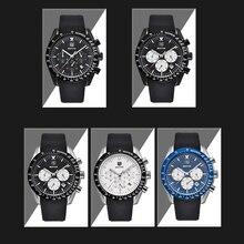 BENYAR Men Watch Top Brand Luxury Male Silicone Strap Waterproof Sport Quartz Chronograph Military Wrist Watch Men